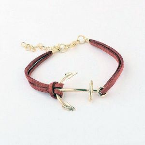 Leather bracelet - Anchor