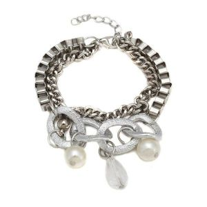 Stylish silver bracelet