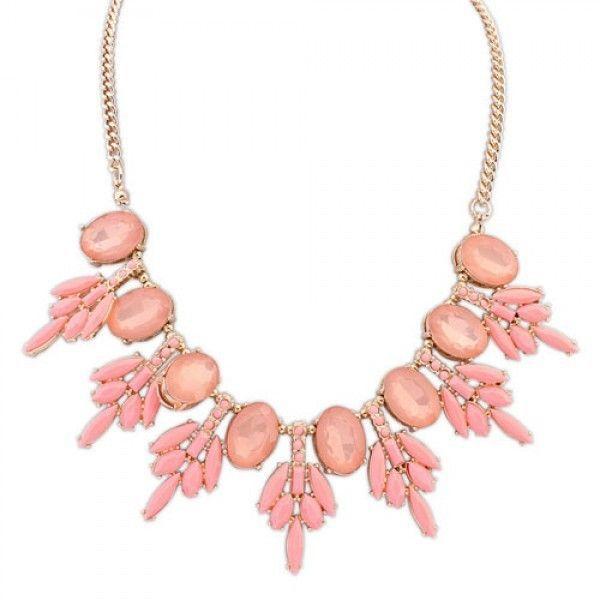 РАСПРОДАЖА! Ожерелье с камнями выполнено в европейском стиле