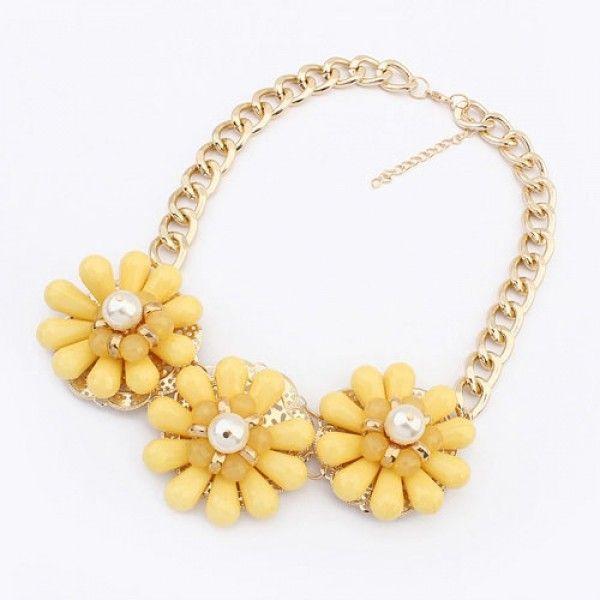 РАСПРОДАЖА! Ожелелье - Желтые цветы