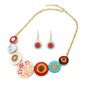 Set of necklace and earrings - Illusion