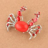 Brooch - Red crab