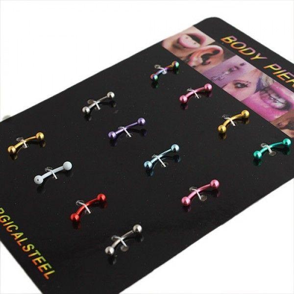 Купить онлайн Набор разноцветных серьг - 12 штук фото цена акция распродажа