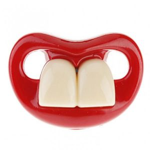 SALE! Funny pacifier with teeth