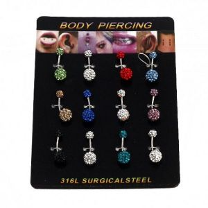 Beautiful earrings for piercing