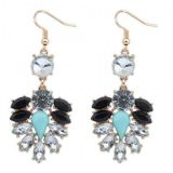 Bohemian earrings with rhinestones