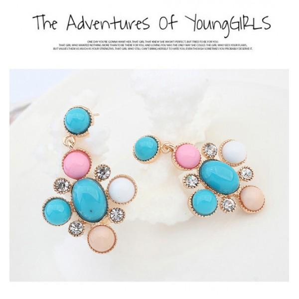 Multi-colored earrings. Артикул: IXI40017