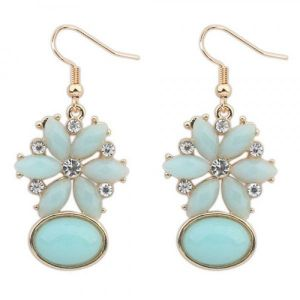 Blue evening earrings