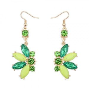 Earrings green color