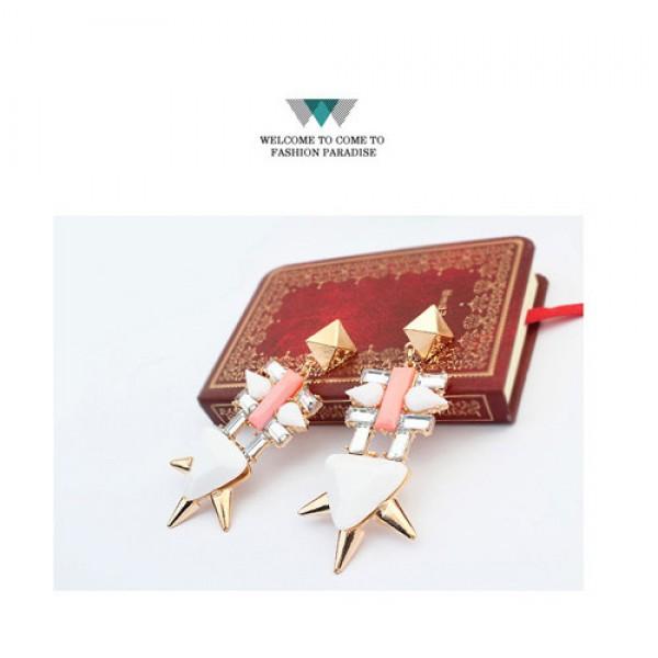 Earrings with geometric rivets. Артикул: IXI40034