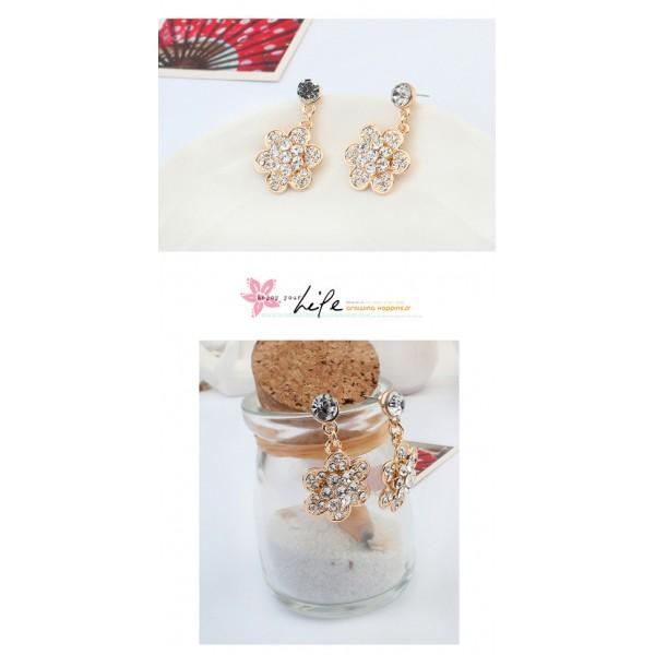 Earrings - Gold flowers. Артикул: IXI40044
