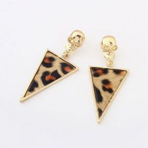 Earrings - Golden leopard