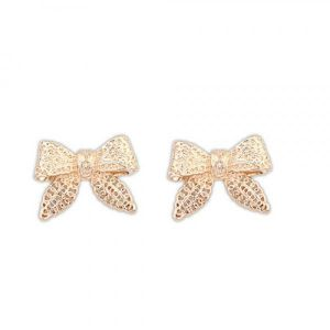 Zolotistye earrings - Bows