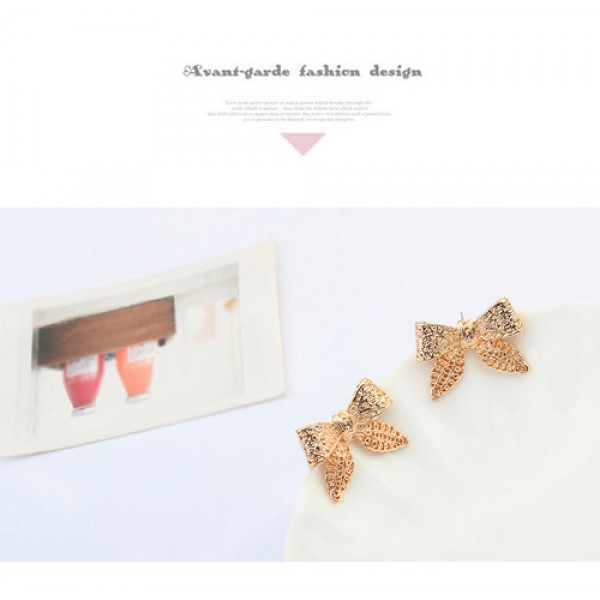 Zolotistye earrings - Bows. Артикул: IXI40049
