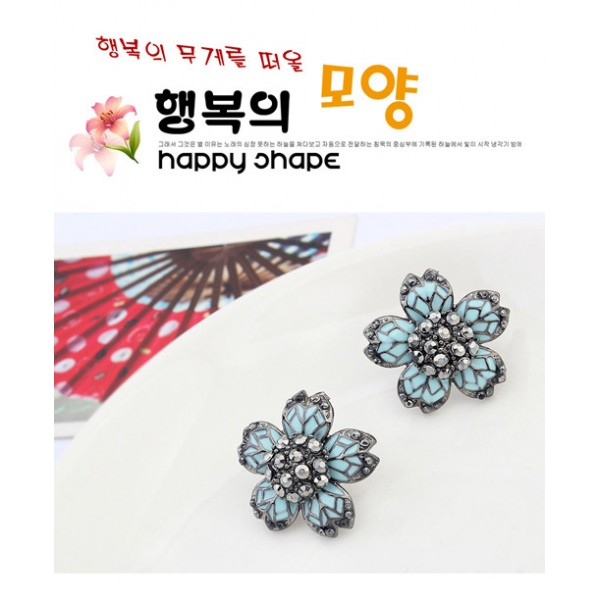 Earrings - Five petal. Артикул: IXI40052