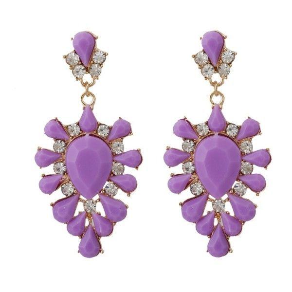 РАСПРОДАЖА! Фиолетовые серьги