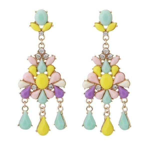 РАСПРОДАЖА! Разноцветные серьги из камней