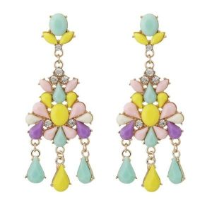 Colorful earrings with stones
