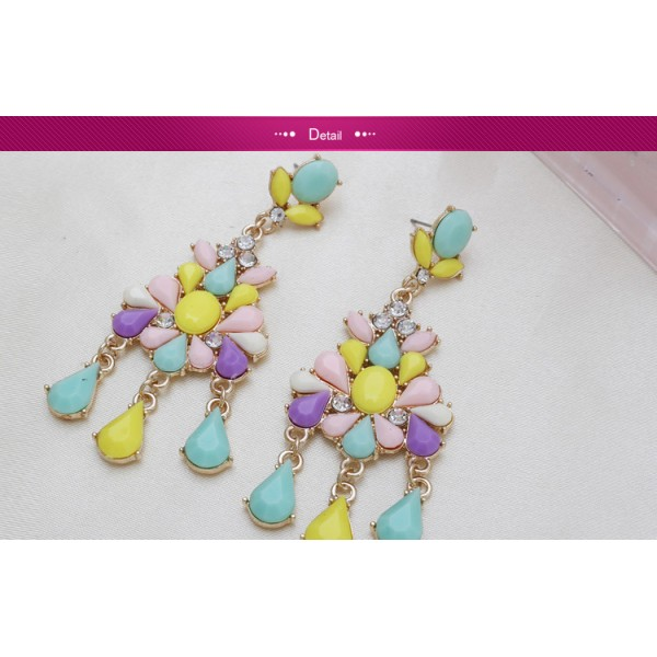 Colorful earrings with stones. Артикул: IXI40056