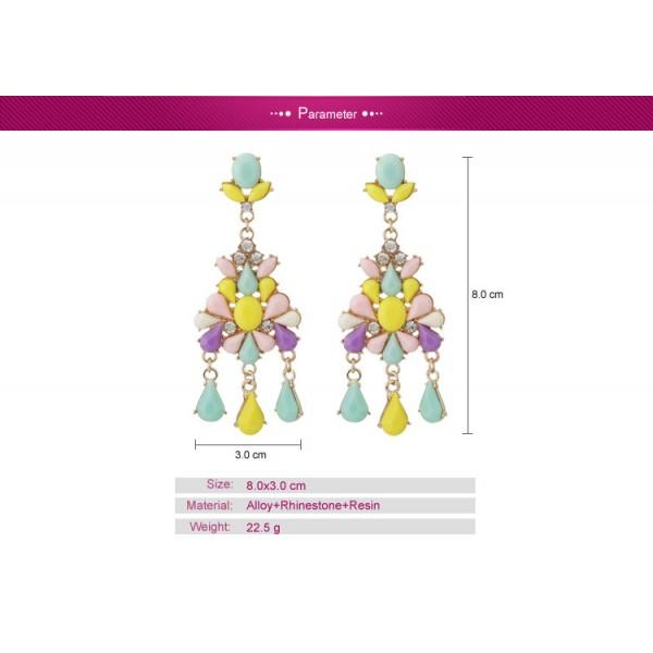 Colorful earrings with stones. Артикул: IXI40056