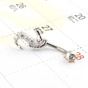 Decoration for piercing - seahorse. Артикул: IXI40096