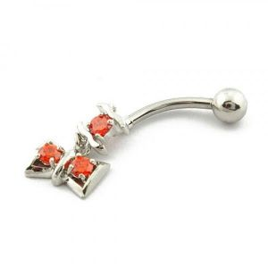 Earring for piercing with a bow