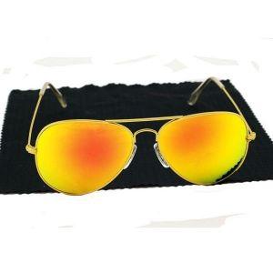 РАСПРОДАЖА! Очки солнцезащитные Ray-Ben Aviator золотистые