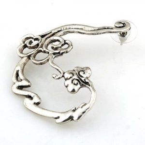 Earring cuff silver color