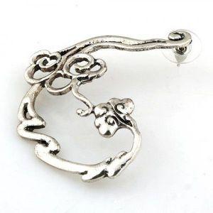 Earring cuff silver color. Артикул: IXI40120