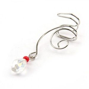 Earring clip pendant