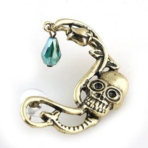 Earring-cuff with skull