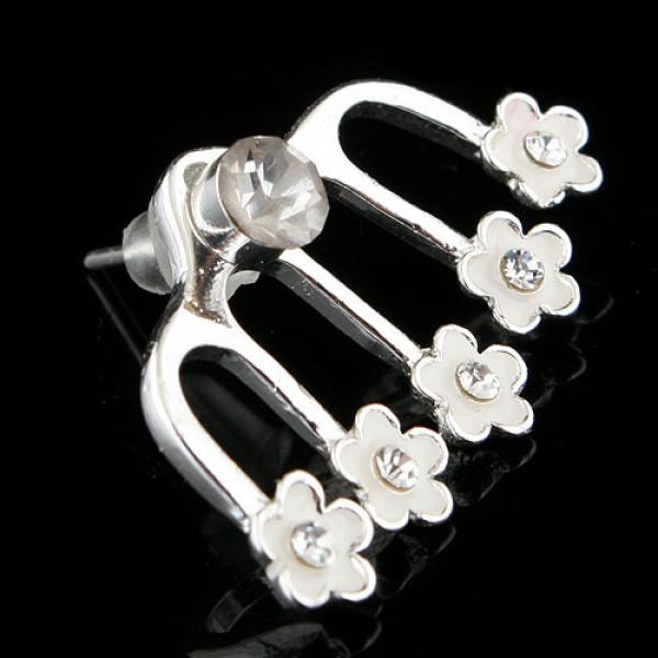 Silver earrings - Flowers. Артикул: IXI40137