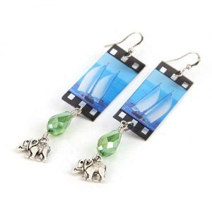 Crystal earrings - Elephants