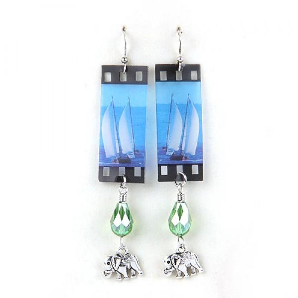 Crystal earrings - Elephants. Артикул: IXI40148