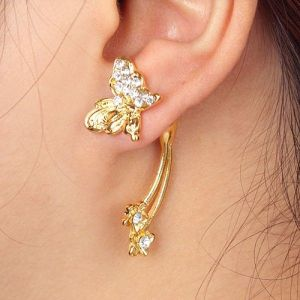 Beautiful earring with butterfly
