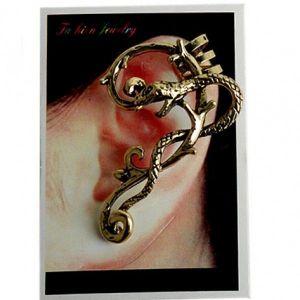 Earring - gold snake