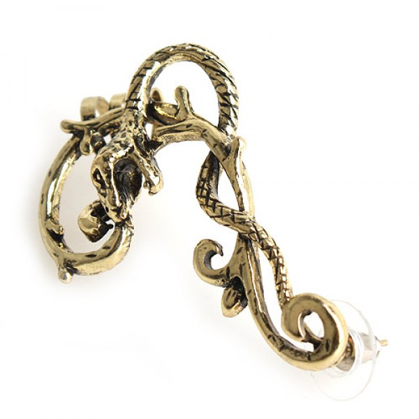 Earring - gold snake. Артикул: IXI40176