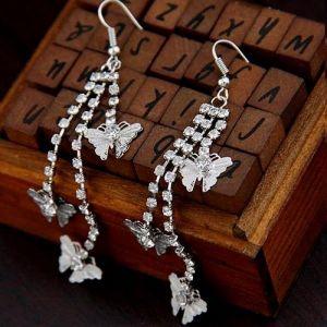 Fashionable earrings with butterflies. Артикул: IXI40184