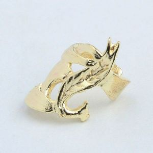 Gold ring clip