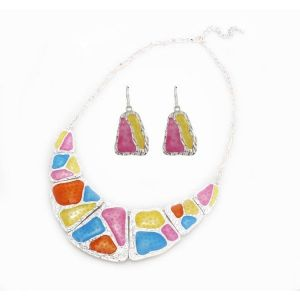 Colorful set of jewelry