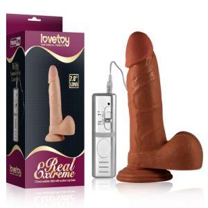 Realistic vibrator Real Extreme Vibrating Dildo, brown. Артикул: IXI40301