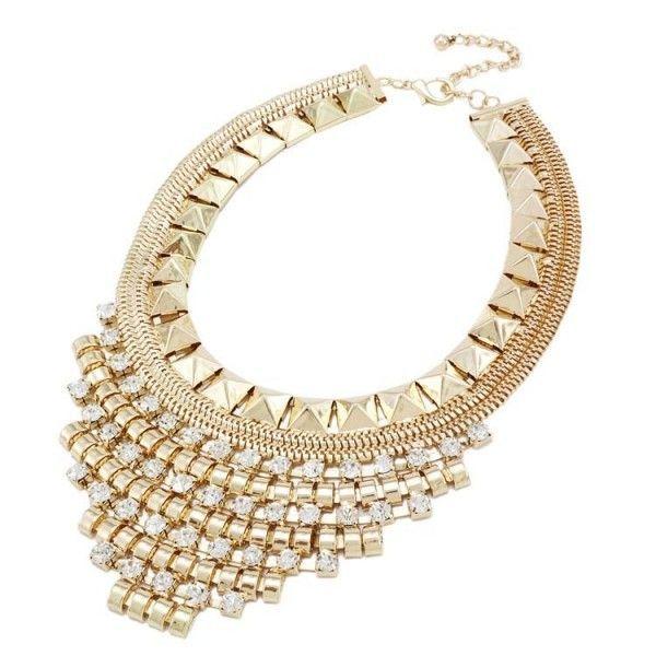 Купить онлайн Золотистое ожерелье с цветочками и жемчугом фото цена акция распродажа