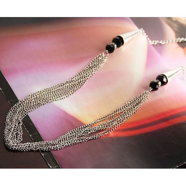 Evening silver necklace. Артикул: IXI40339