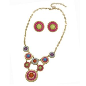 An exclusive set of necklace and earrings
