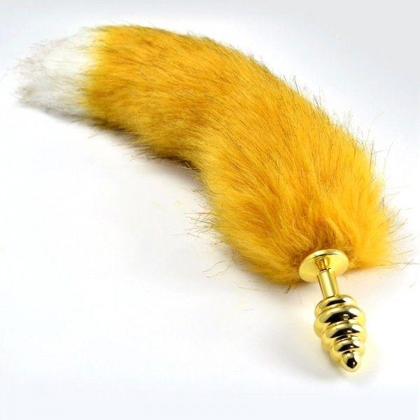 IXI40382 - Анальная пробка с желтым хвостом