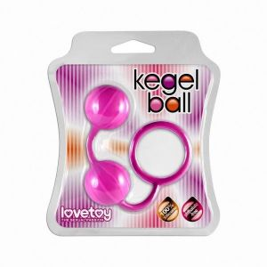 Balls pink bowling pins