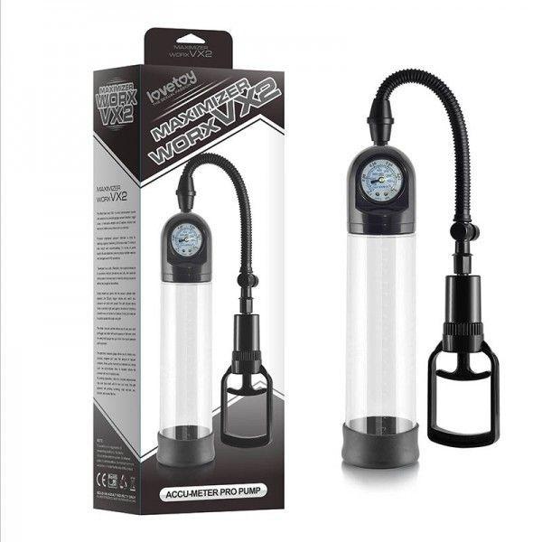 Вакуумная помпа для пениса Maximizer Worx VX2 Accu-Meter Pro Pump