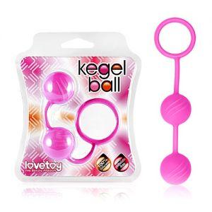 Мячики кегеля розовые ребристые