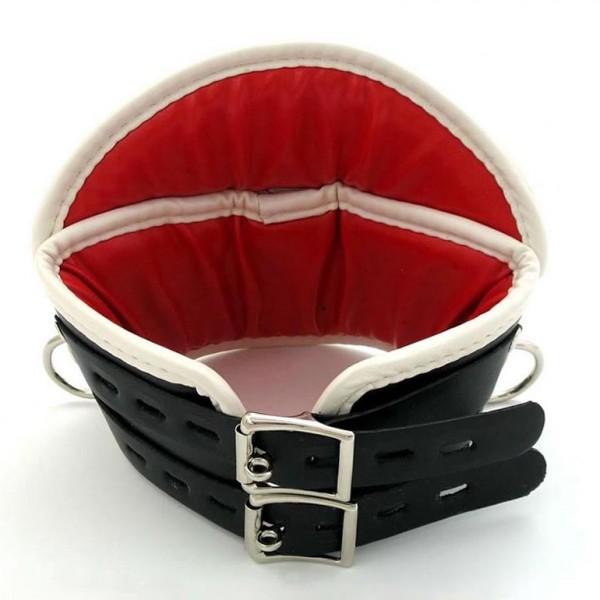 BDSM (БДСМ) - <? print Черный-красный медицинский корсет для шеи Deluxe Padded; ?>