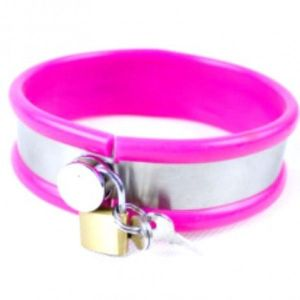 Collar stainless steel big size pink